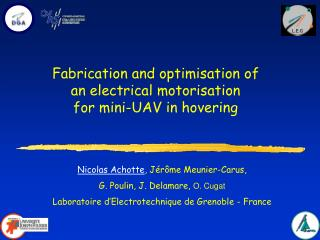 Fabrication and optimisation of  an electrical motorisation  for mini-UAV in hovering