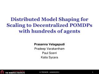 Distributed Model Shaping for Scaling to Decentralized  POMDPs  with hundreds of agents