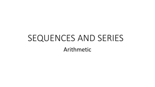 Sequences and Series 3
