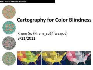 Cartography for Color Blindness