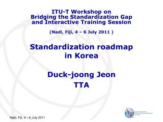 Standardization roadmap in Korea