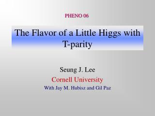 The Flavor of a Little Higgs with T-parity