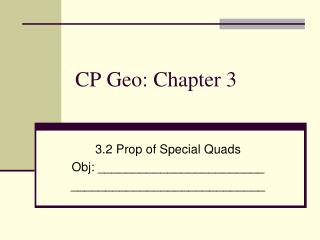 CP Geo: Chapter 3