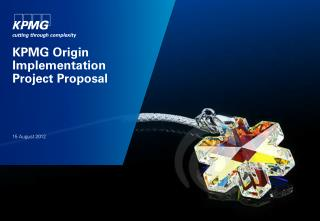 KPMG Origin Implementation Project Proposal