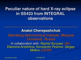 Peculiar nature of hard X-ray eclipse in SS433 from INTEGRAL observations