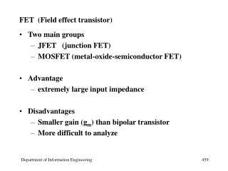 FET  (Field effect transistor)