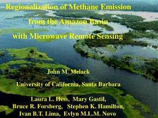 Regionalization of Methane Emission from the Amazon Basin with Microwave Remote Sensing