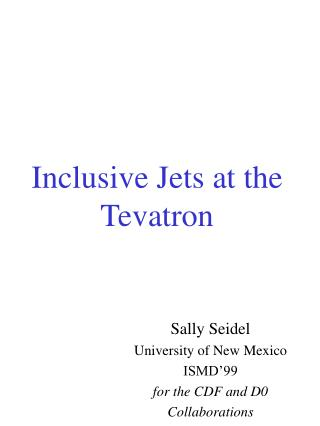 Inclusive Jets at the Tevatron