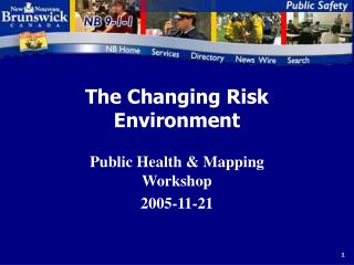 The Changing Risk Environment