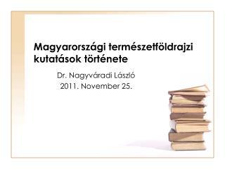 Magyarországi természetföldrajzi kutatások története