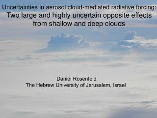 Uncertainties in aerosol cloud-mediated radiative forcing: