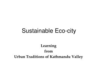Sustainable Eco-city