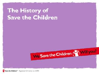 The History of  Save the Children