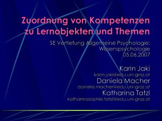 Definitionen Kompetenz Lernobjekt Exkurs Diplomarbeit Adaptive Competence Testing in eLearning