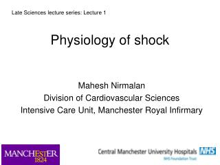 Physiology of shock
