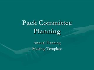 Pack Committee Planning