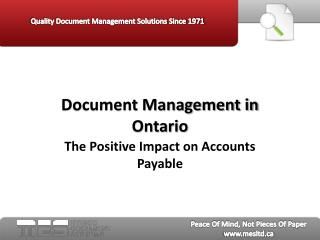 MES Hybrid - Document Management in Ontario - The Positive I