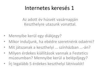Internetes keresés 1