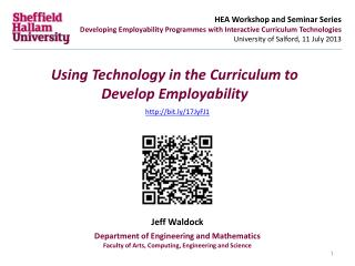 Using Technology in the Curriculum to Develop Employability
