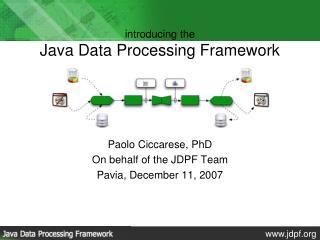introducing the Java Data Processing Framework