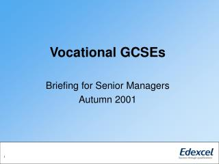 Vocational GCSEs