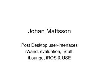 Johan Mattsson