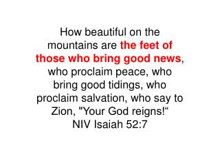 It's a great thing to praise the Lord