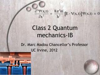 Class 2 Quantum mechanics-IB