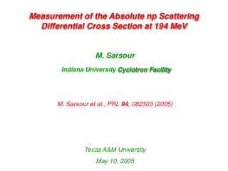Measurement of the Absolute np Scattering Differential Cross Section at 194 MeV