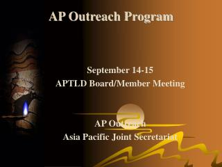 AP Outreach Program
