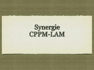 Synergie CPPM-LAM