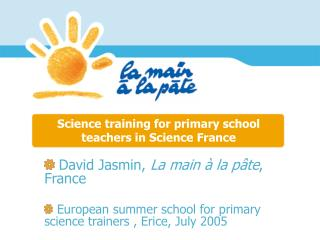 Science training for primary school teachers in Science France