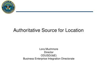 Authoritative Source for Location