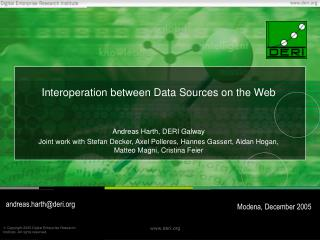 Interoperation between Data Sources on the Web