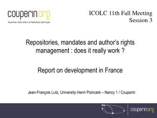 Repositories, mandates and author's rights management : does it really work ?