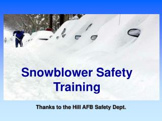 Snowblower Safety Training