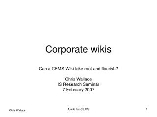 Corporate wikis