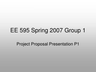 EE 595 Spring 2007 Group 1