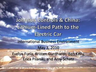 Johnson Controls & China: Lithium-Lined Path to the Electric Car