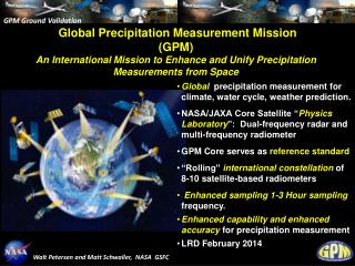 Global Precipitation Measurement Mission (GPM)