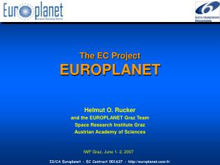 The EC Project EUROPLANET