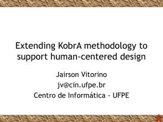 Extending KobrA methodology to support human-centered design