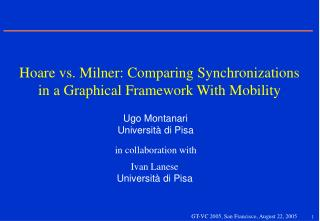 Hoare vs. Milner: Comparing Synchronizations in a Graphical Framework With Mobility