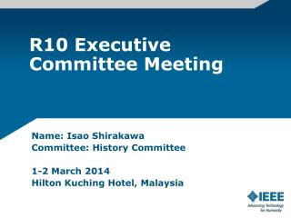 R10 Executive Committee Meeting
