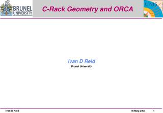 C-Rack Geometry and ORCA