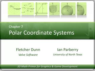 Chapter 7 Polar Coordinate Systems