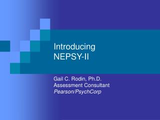 Introducing NEPSY-II