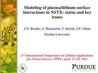 Modeling of plasma/lithium-surface interactions in NSTX: status and key issues