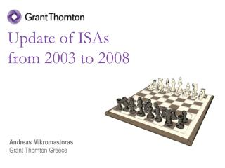 Update of ISAs  from 2003 to 2008