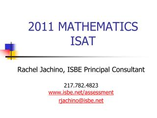 2011 MATHEMATICS ISAT